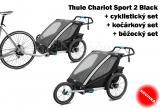 Thule Chariot Sport 2 Black 2019 + bike set + běžecký set + kočárkový set