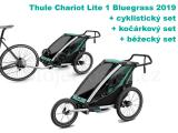 Thule Chariot Lite 1 Bluegrass 2019 + bike set + běžecký set + kočárkový set