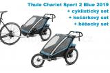 Thule Chariot Sport 2 Blue 2019 + bike set + běžecký set + kočárkový set