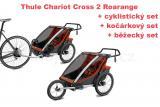Thule Chariot Cross 2 Roarange 2020 + bike set + běžecký set + kočárkový set