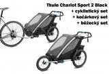 Thule Chariot Sport 2 Black 2020 + bike set + běžecký set + kočárkový set