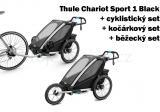 Thule Chariot Sport 1 Black 2020 + bike set + běžecký set + kočárkový set