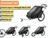 Thule Chariot Sport 1 Midnight Black 2021+ bike set + běžecký set + kočárkový set