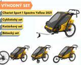 Thule Chariot Sport 1 Spectra Yellow 2021+ bike set + běžecký set + kočárkový set