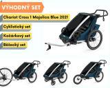 Thule Chariot Cross 1 Majolica Blue 2021 + bike set + běžecký set + kočárkový set