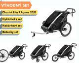 Thule Chariot Lite 1 Agave 2021 + bike set + běžecký set + kočárkový set