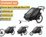 Thule Chariot Sport 2 Midnight Black 2021+ bike set + běžecký set + kočárkový set