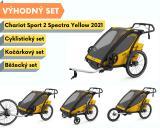 Thule Chariot Sport 2 Spectra Yellow 2021+ bike set + běžecký set + kočárkový set