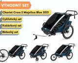 Thule Chariot Cross 2 Majolica Blue 2021 + bike set + běžecký set + kočárkový set