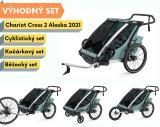 Thule Chariot Cross 2 Alaska 2021 + bike set + běžecký set + kočárkový set