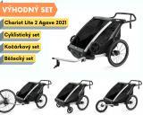 Thule Chariot Lite 2 Agave 2021 + bike set + běžecký set + kočárkový set