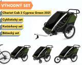 Thule Chariot Cab 2 Cypress Green 2021 + bike set + běžecký set + kočárkový set