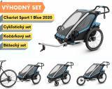 Thule Chariot Sport 1 Blue 2020 + bike set + běžecký set + kočárkový set