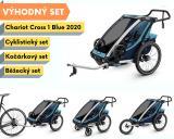 Thule Chariot Cross 1 Blue 2020 + bike set + běžecký set + kočárkový set