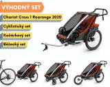 Thule Chariot Cross 1 Roarange 2020 + bike set + běžecký set + kočárkový set