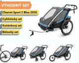 Thule Chariot Sport 2 Blue 2020 + bike set + běžecký set + kočárkový set