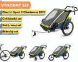 Thule Chariot Sport 2 Chartreuse 2020 + bike set + běžecký set + kočárkový set