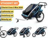 Thule Chariot Cross 2 Blue 2020 + bike set + běžecký set + kočárkový set