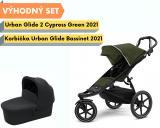 Thule Urban Glide 2 Black / Cypress Green 2021 s korbičkou