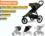 Thule Urban Glide 2 Black / Cypress Green 2021 s madlem, pláštěnkou a moskytiérou