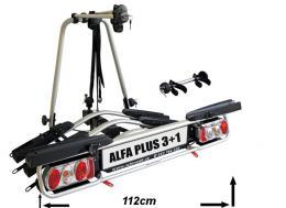 Nosič 4 kol na tažné Wjenzek Alfa Plus 3+1 sklopný - zvětšit obrázek
