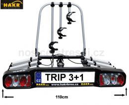 Nosič 4 kol na tažné HAKR TRIP 3+1 Middle - zvětšit obrázek
