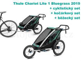 Thule Chariot Lite 1 Bluegrass 2019 + bike set + běžecký set + kočárkový set - zvětšit obrázek