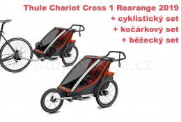 Thule Chariot Cross 1 Roarange 2019 + bike set + běžecký set + kočárkový set - zvětšit obrázek