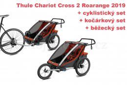 Thule Chariot Cross 2 Roarange 2019 + bike set + běžecký set + kočárkový set - zvětšit obrázek
