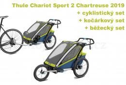 Thule Chariot Sport 2 Chartreuse 2019 + bike set + běžecký set + kočárkový set - zvětšit obrázek