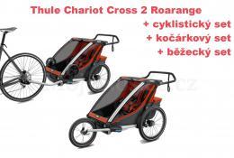 Thule Chariot Cross 2 Roarange 2020 + bike set + běžecký set + kočárkový set - zvětšit obrázek