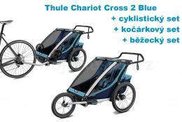 Thule Chariot Cross 2 Blue 2020 + bike set + běžecký set + kočárkový set - zvětšit obrázek