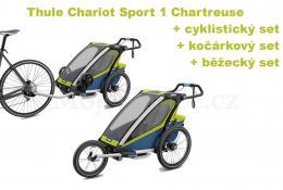 Thule Chariot Sport 1 Chartreuse 2020 + bike set + běžecký set + kočárkový set - zvětšit obrázek