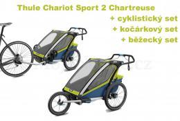 Thule Chariot Sport 2 Chartreuse 2020 + bike set + běžecký set + kočárkový set - zvětšit obrázek