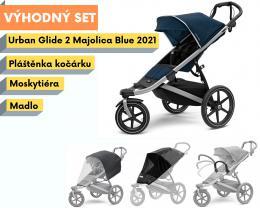 Thule Urban Glide 2 Alu / Majolica Blue 2021 s madlem, pláštěnkou a moskytiérou - zvětšit obrázek