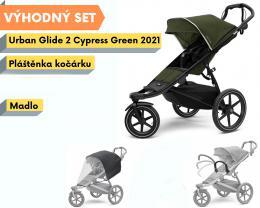 Thule Urban Glide 2 Black / Cypress Green 2021 s madlem a pláštěnkou - zvětšit obrázek