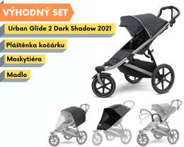 Thule Urban Glide 2 Dark Shadow 2021 s madlem, pláštěnkou a moskytiérou - zvětšit obrázek